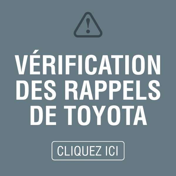 Vérification des rappel de Toyota