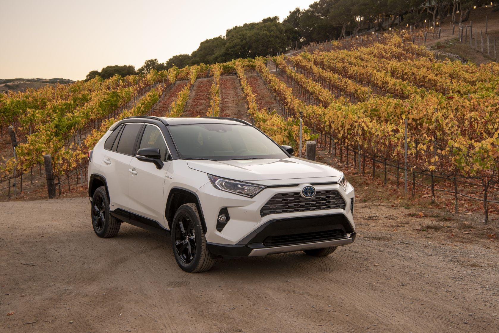 Toyota RAV4 2019 hybride blanc