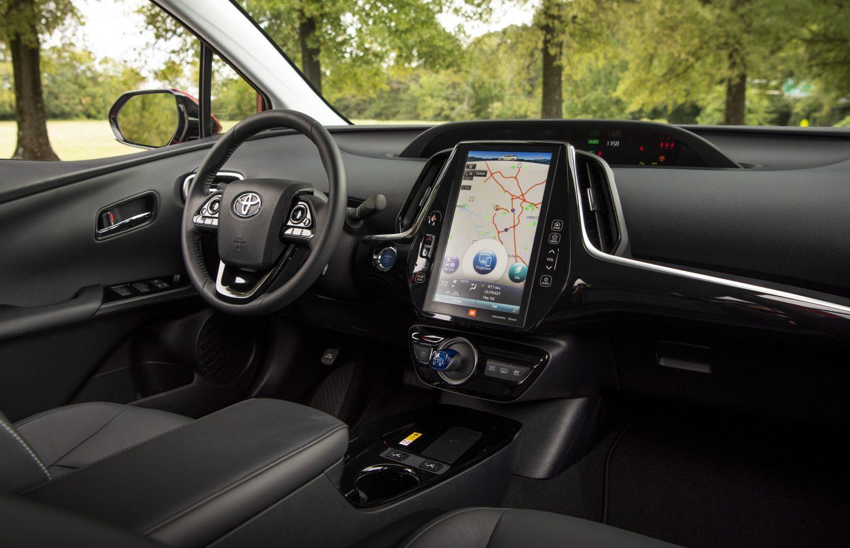 Intérieur de la Toyota Prius Prime 2020