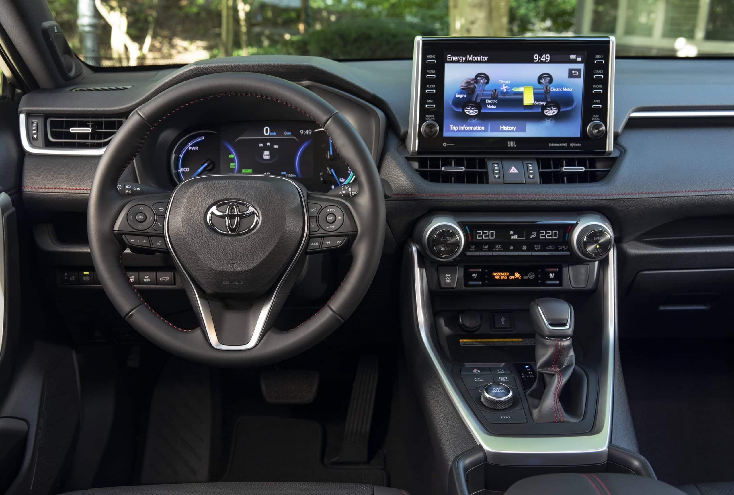 Habitacle du Toyota RAV4 Prime 2021